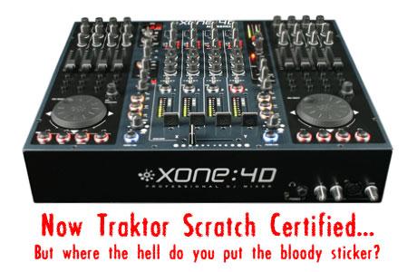 Allen & heath xone:4d Traktor Scratch certified