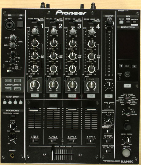 Pioneer, DJM, 850, MIxer, exclusive