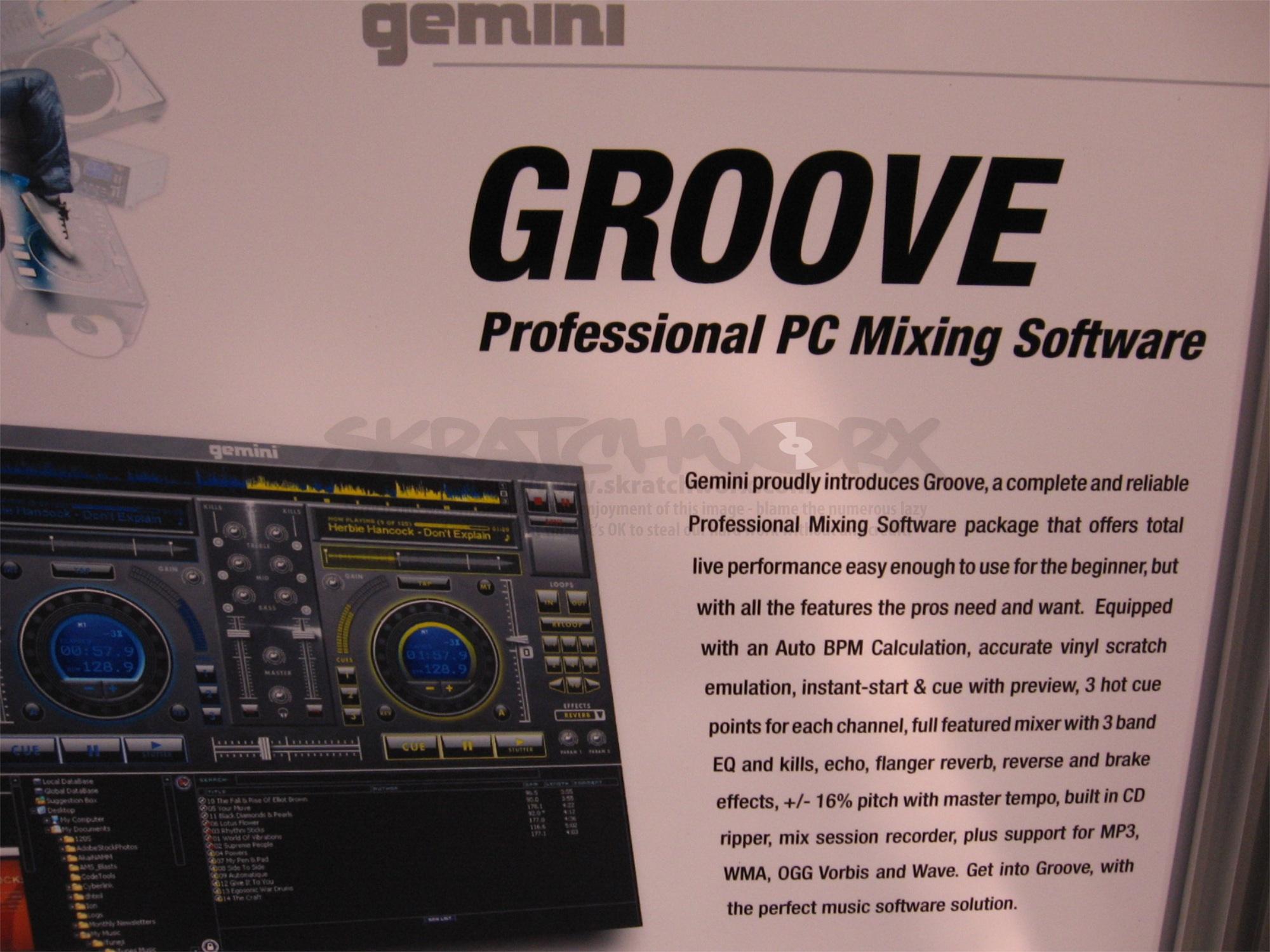 groove software Gemini professional dj