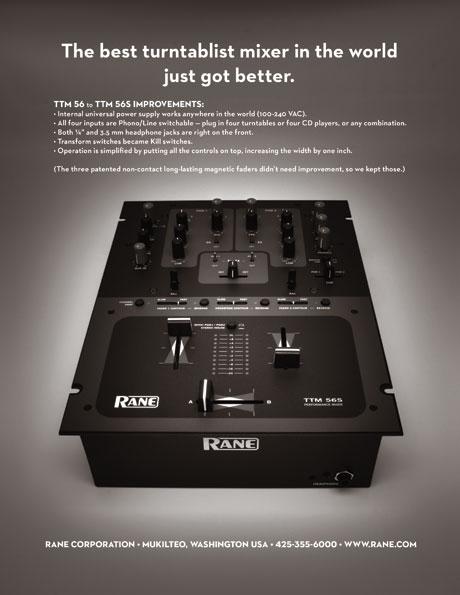 Rane TTM-56s 56s scratch performance turntablist mixer NAMM 2009