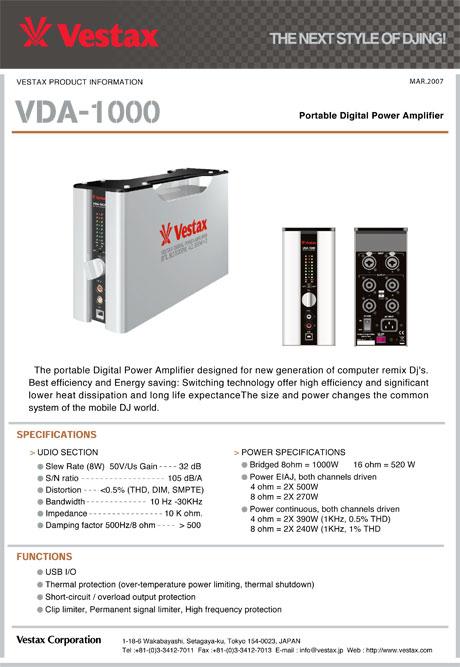 Vestax VDA-1000 Vda-1000_npi