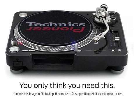 technics pioneer cdj 1200 mockup