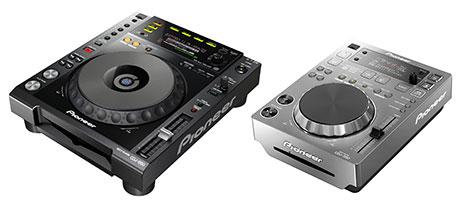 Pioneer CDJ-850 Black CDJ-350 Silver