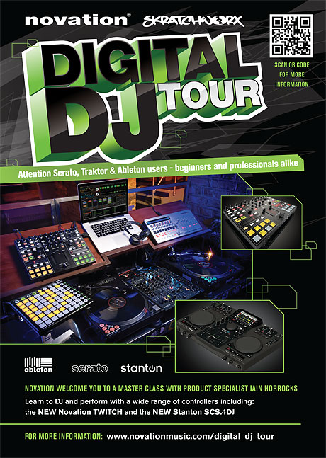 Novation skratchworx digital DJ tour