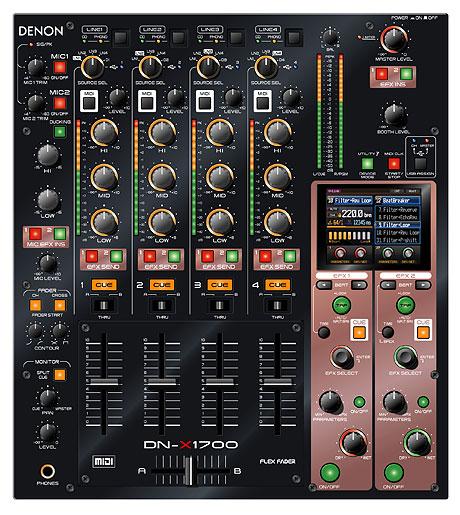 denon dn-x1700 mixer musikmesse 2009