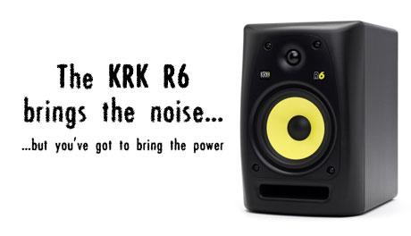 KRK r6 passive studio monitor