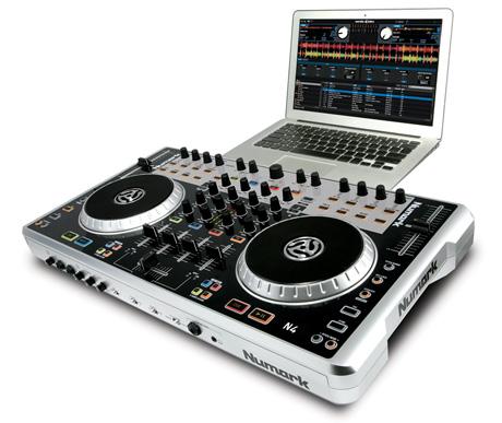 numark n4 serato DJ intro Virtual DJ LE 4 channel midi controller