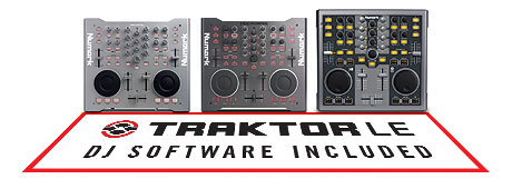 Numark midi controllers now with Traktor LE