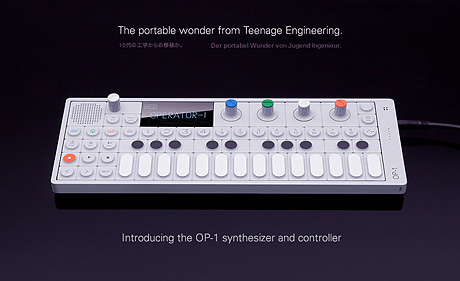 Teenage engineering OP-1 controller synth fm radio