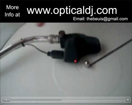 Optical DJ headshell technology