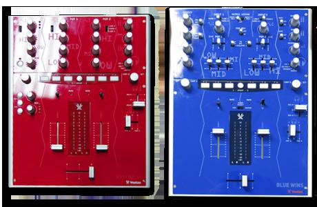 Vestax NAMM 2009 PMC08pro2 Blue PMC05pro2 Red prototype