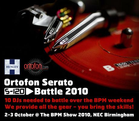 ortofon serato s-120 battle bpm show 2010