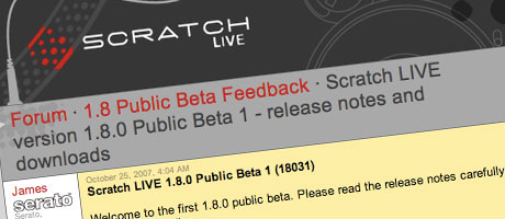 Serato Scratch Live Rane SSL v1.8 1.8 beta