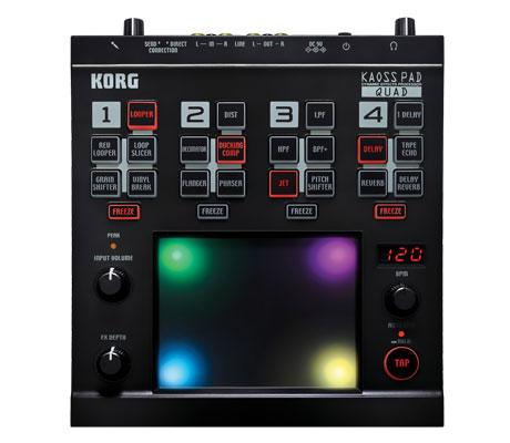 O poderoso processador de efeitos Korg Kaoss Pad Quad kaoss, korg, korg kaoss pad quad, pad quad, processador de efeitos
